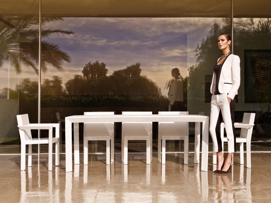 VONDOM Frame Dining Table in White