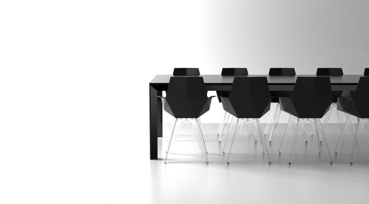 VONDOM Frame Dining Table with Faz Dining Chairs