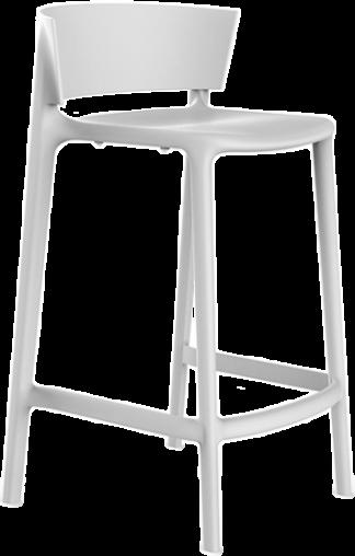 VONDOM Africa Counter Bar Chair in White