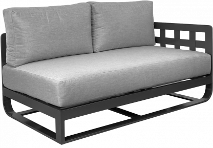 Soho Sectional Left Arm Module in Pewter