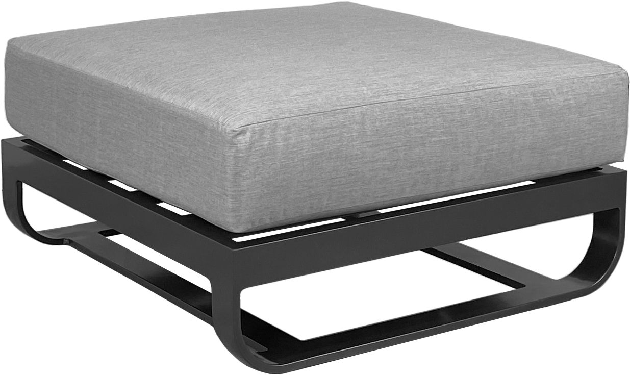 Soho Sectional Ottoman in Pewter