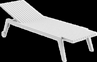 Spritz Sun Lounger in White