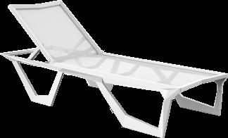 Voxel Sun Lounger in White