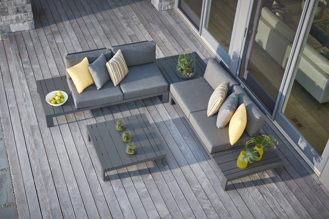 Streamline Sectional in Pewter Small Configuration