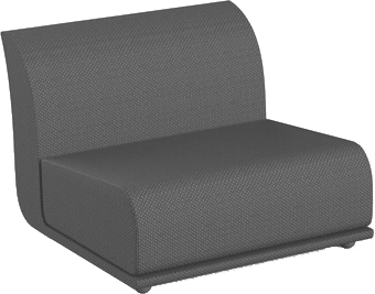 VONDOM Suave Sectional Armless Slipper Module