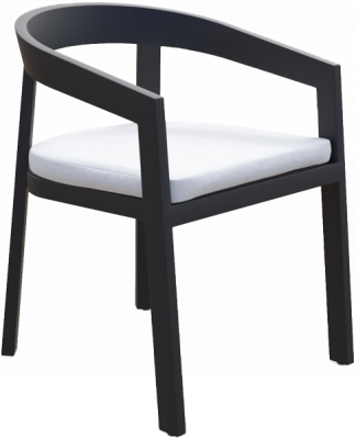Vento Dining Arm Chair in Asteroid