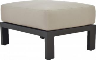 Vento Lounge Ottoman in Pewter