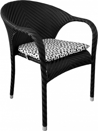 Salvador Dining Arm Chair in Black