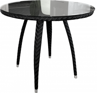Salvador Dining Table in Black Wicker