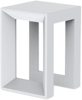 VONDOM Frame Stool in White