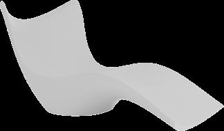VONDOM Surf Chaise in White