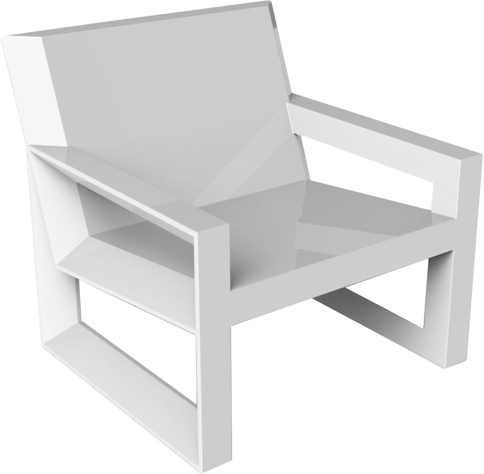 VONDOM Frame Club Chair in White