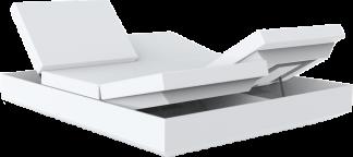 VONDOM Vela Daybed with 4 Reclining Backrests in White