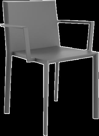 VONDOM Quartz Dining Arm Chair in Grey
