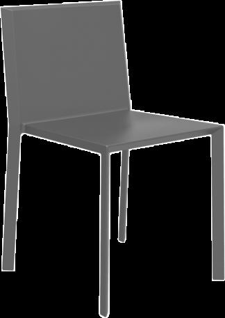 VONDOM Quartz Dining Side Chair in Grey