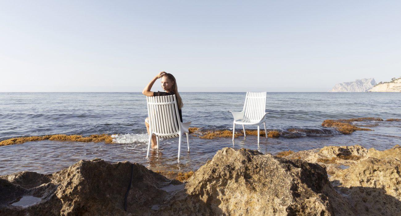 VONDOM Ibiza Club Chairs in White