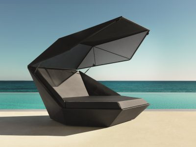 VONDOM Faz Daybed with Canopy in Black