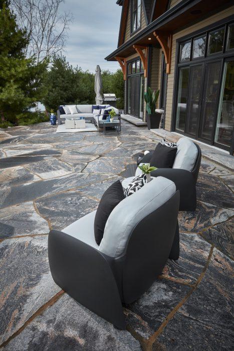 VONDOM Pezzettina Club Chairs in Anthracite