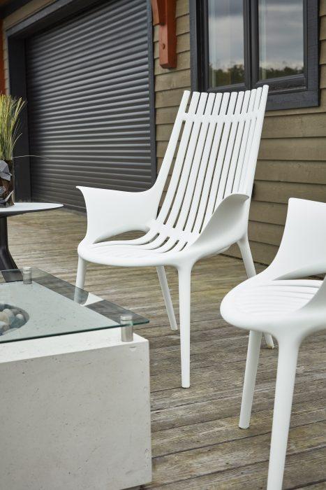 VONDOM Ibiza Club Chair in White
