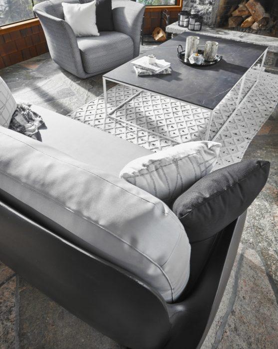VONDOM Pezzettina Sofa in Anthracite