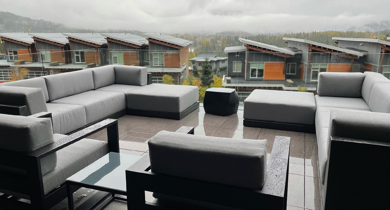 Customer Image Pixel Sectional and Nevis Club Chairs